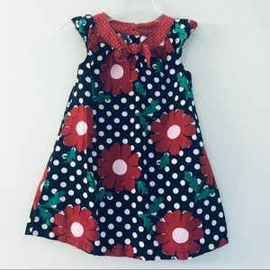 Old Navy Baby Girl Navy and Red Floral Dress